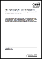 The framework for school inspection from January 2012