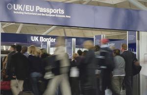 UK Border Agency - passport control gates