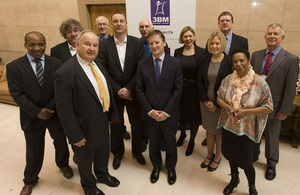 Staff group photo at launch of new mutual venture 3BM