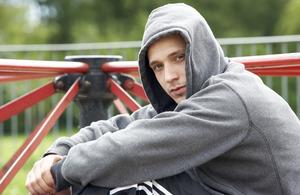 Young man park