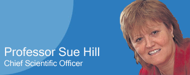 Photo of Professor Sue Hill, Chief Scientific Officer
