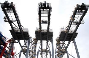3 cranes. Photo: Gareth Fuller/PA Wire.