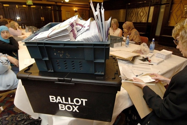 Counting votes from a ballot box