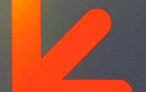 Orange arrow - south west direction
