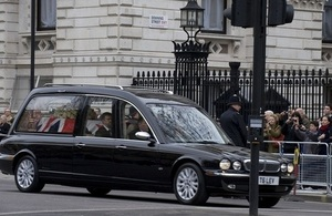 Baroness Thatcher funeral