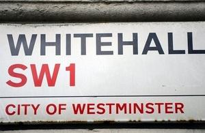 Whitehall road sign