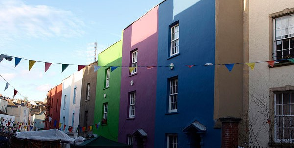 Bristol - coloured houses