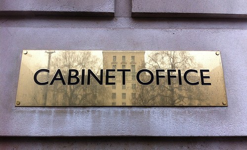 Brass Cabinet Office plaque