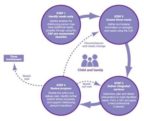 chart of four steps in the local safeguarding process