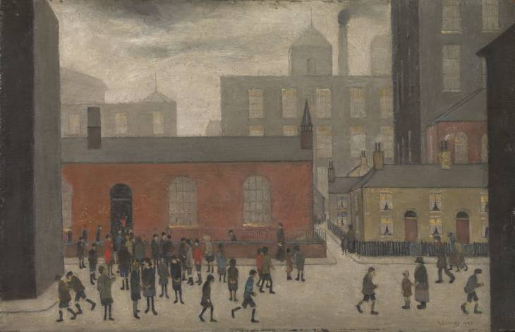 L.S. Lowry, 'Coming Out of School' 1927