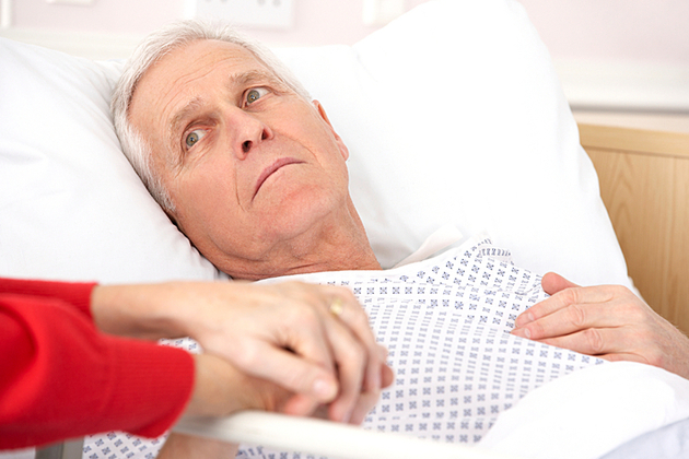 Older man in hospital