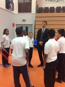 Secretary of State Jeremy Hunt launching the Longer Lives site on a visit to Lambeth