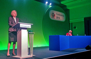 Home Secretary praises police at Superintendents' Conference