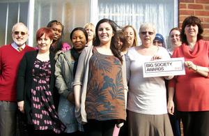 Group of Big Society Award winners