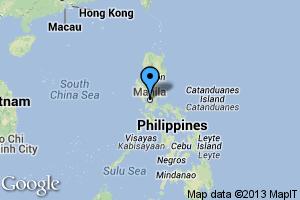 map of Manila, Philippines
