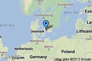 map of Copenhagen, Denmark