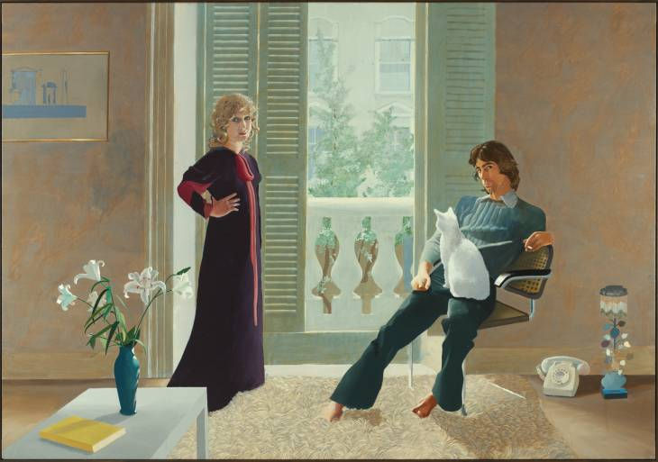 David Hockney, 'Mr and Mrs Clark and Percy' 1970-1