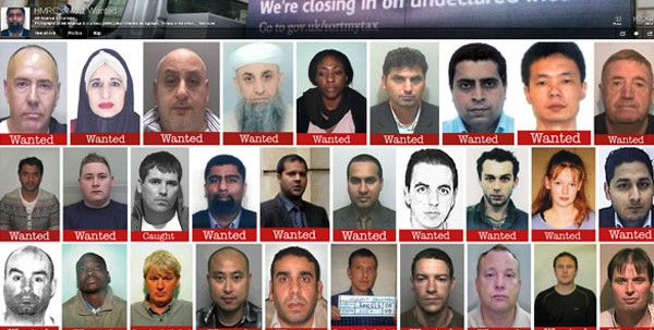HMRC - most wanted tax fugitives