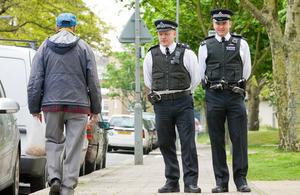 Police walking