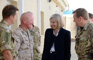Home Secretary completes second visit to Afghanistan