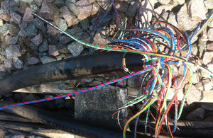 Severed cables
