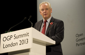 Francis Maude at the Open Government Partnership 2013
