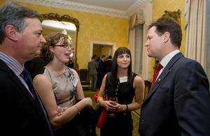 Nick Clegg at a reception for National Apprenticeship Week