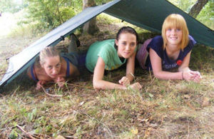 NCS volunteers camping. Picture: National Citizen Service