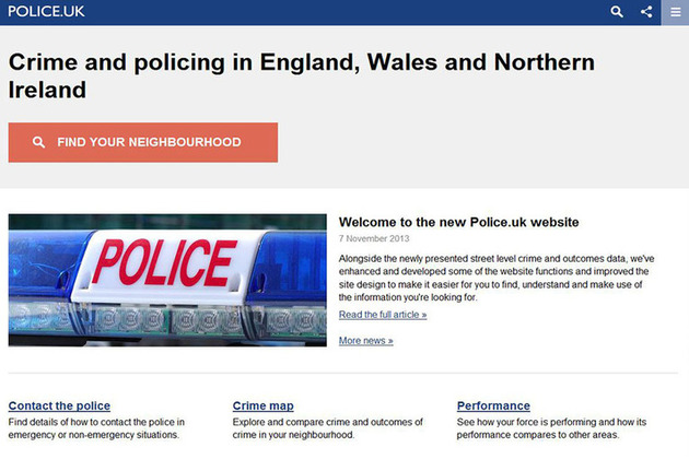 Improved Police.uk launched
