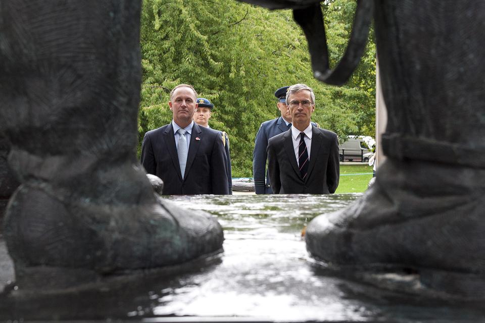 New Zealand Prime Minister John Key (left) and Dr Andrew Murrison