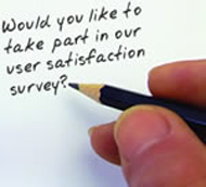 Would you like to take part in our user satisfaction survey?