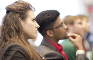 Young people at government reception