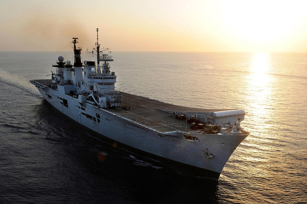'HMS Illustrious continues Philippines aid effort'