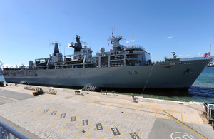 'Royal Navy flagship sails into Gibraltar'