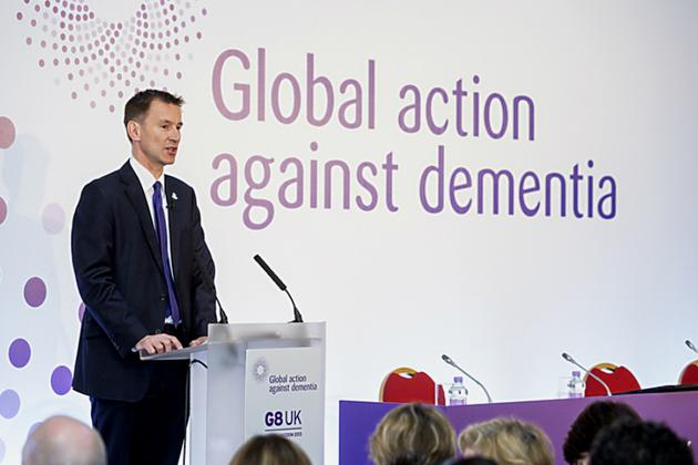 Jeremy Hunt at G8 dementia summit