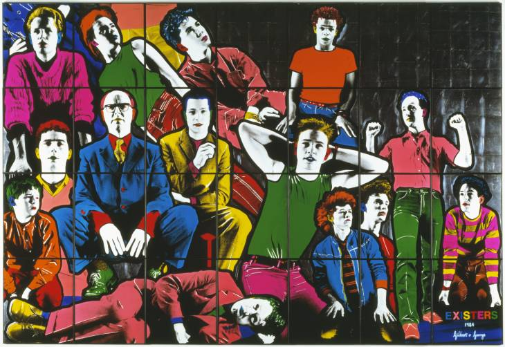 Gilbert & George, 'Existers' 1984