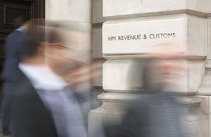 Entrance to HMRC at 100 Parliament Street, London