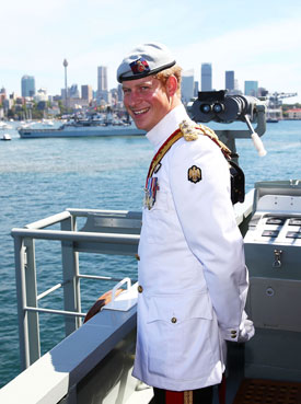 Prince Harry at the International Fleet Review in Sydney