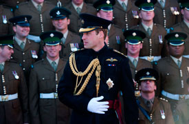 The Duke of Cambridge presents operational service medals to the Irish Guards