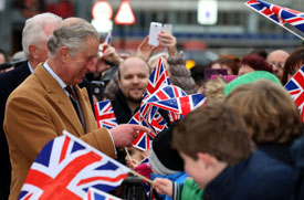 The Prince of Wales visits Bedfordshire