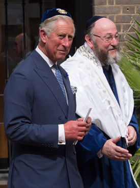 The Prince of Wales and Chief Rabbi Ephraim Mirvis