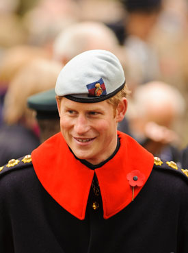 Prince Harry at the Fields of Remembrance at Westminster Abbey, London