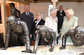 The Prince of Wales and The Duchess of Cornwall open the Bentley Priory Museum