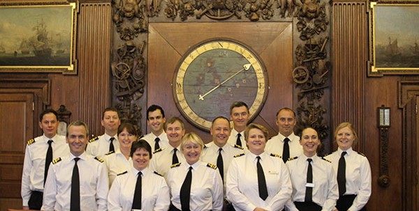 Royal Navy Reservists visit Admiralty Boardroom