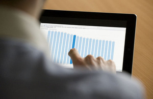 Data on a tablet device
