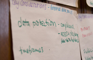Data protection on flipchart