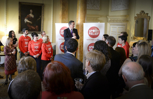 David Cameron welcomes Sport Relief's fundraising finest