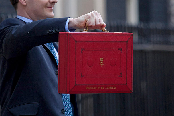 Chancellor of the Exchequer briefcase