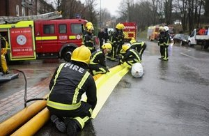 Fire and rescue flood recovery