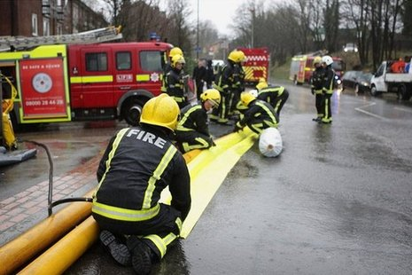 Fire and rescue flood recovery.